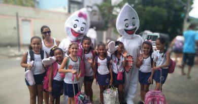 Saúde na Escola realiza atividade com alunos da Escola Estadual Tenente José Luciano