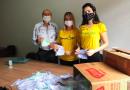 Projeto Margaridas realiza doação de máscaras para a Associação dos Aposentados de Timóteo